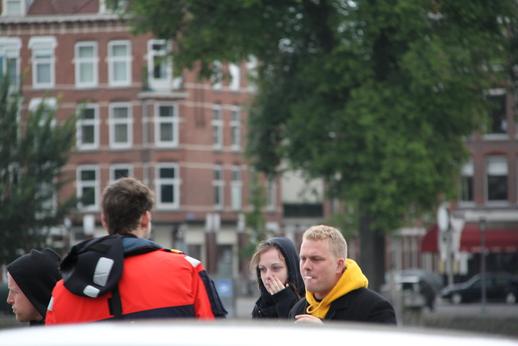 Van links naar rechts: Tom van der Hoek, Gertrud Bossdorf, Paul Peters