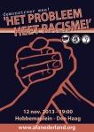 Het probleem heet racisme - Poster