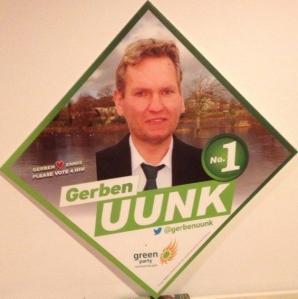 Uunk voert campagne voor de Groenen