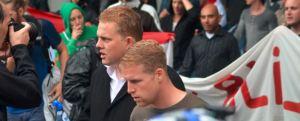 Links Paul Peters, naast hem de neonazi Tom van den Hoek
