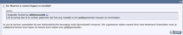 VP stamtafels uitstekend voor leggen van contact (Bron: Stormfrontforum juni 2014)
