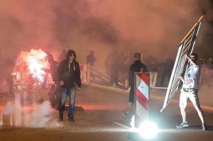 Neo nazi's in Heidenau