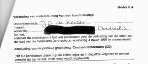 Ondersteuning CD door J.A. de Keizer, maart 1998 (adresgegevens verwijderd door Kafka)